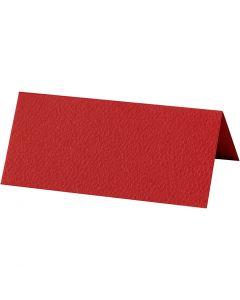 Bordkort, str. 9x4 cm, 220 g, rød, 10 stk./ 1 pk.