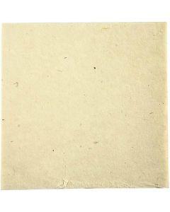 Håndlaget stoffpapir, 20x20 cm, 70 g, råhvit, 10 ark/ 1 pk.