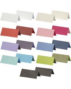 Bordkort, str. 9x4 cm, Innhold kan variere , 250 g, ass. farger, 30 pk./ 1 pk.