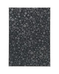 Papir, A4, 210x297 mm, 80 g, svart, 20 ark/ 1 pk.