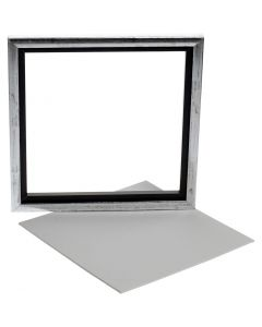 Sveveramme m. maleplate, str. 25x25 cm, hvit, 1 stk.