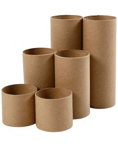 Papprør, L: 4,7+9,3+14 cm, dia. 5 cm, 6 stk./ 1 pk.