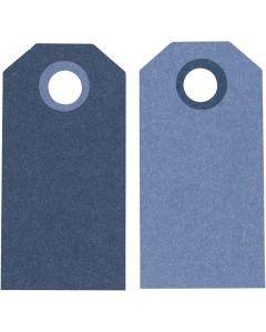 Manillamerker, str. 6x3 cm, 250 g, mørk blå/lys blå, 20 stk./ 1 pk.