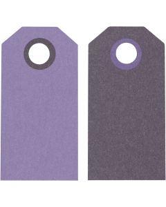 Manillamerker, str. 6x3 cm, 250 g, lilla/mørk lilla, 20 stk./ 1 pk.