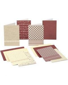 Brevkort med konvolutt, kort str. 10,5x15 cm, 220 g, 16 stk./ 1 pk.