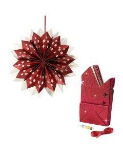 Stjerne av papirposer, 200 g, rød, 1 sett