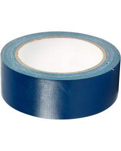 Lerretstape, B: 38 mm, blå, 25 m/ 1 rl.