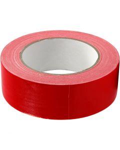 Lerretstape, B: 38 mm, rød, 25 m/ 1 rl.