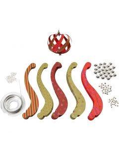Papirstrimler inkl. monteringssett, str. 12x1,5 cm, 180 g, 12 stk./ 1 pk.