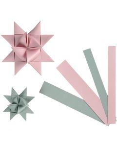 Stjernestrimler, B: 15+25 mm, dia. 6,5+11,5 cm, 60 strimler/ 1 pk.
