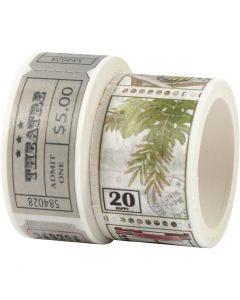 Masking Tape, L: 3+5 m, B: 20+25 mm, 2 rl./ 1 pk.