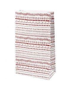 Papirpose, doodles, H: 21 cm, str. 6x12 cm, 8 stk./ 1 pk.