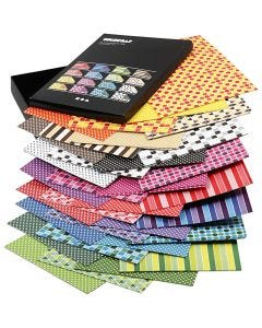 Color Bar rivekartong, A4, 210x297 mm, 250 g, ass. farger, 16x10 ark/ 1 pk.