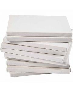 Malelerret, dybde 1,6 cm, A5, str. 14,8x21 cm, 280 g, hvit, 80 stk./ 1 pk.