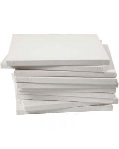 Malelerret, dybde 1,6 cm, str. 30x30 cm, 280 g, hvit, 40 stk./ 1 pk.