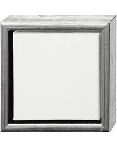 ArtistLine Canvas med ramme, str. 19x19 cm, antikk sølv, hvit, 1 stk.