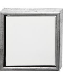 ArtistLine Canvas med ramme, str. 24x24 cm, 360 g, antikk sølv, hvit, 1 stk.