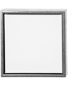 ArtistLine Canvas med ramme, str. 34x34 cm, 360 g, antikk sølv, hvit, 1 stk.