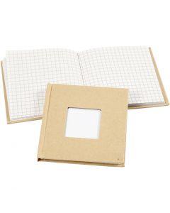 Kinabok, str. 10x10 cm, 60 g, brun, 1 stk.