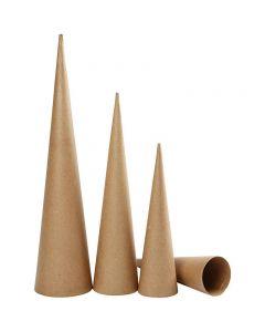 Høye kjegler, H: 30-40-50 cm, dia. 8-9-11,5 cm, 3 stk./ 1 pk.