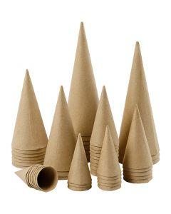 Kjegler, H: 8-20 cm, dia. 4-8 cm, 50 stk./ 1 pk.