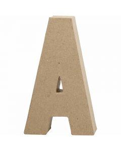 Bokstav, A, H: 20,5 cm, B: 11,8 cm, tykkelse 2,5 cm, 1 stk.