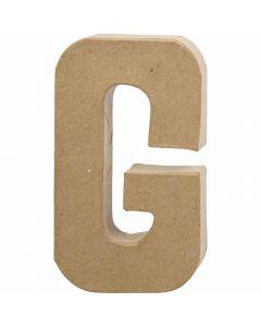 Bokstav, G, H: 20,5 cm, B: 11,5 cm, tykkelse 2,5 cm, 1 stk.