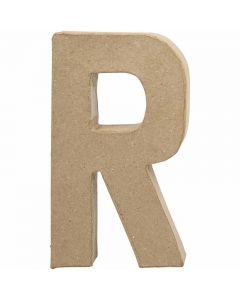 Bokstav, R, H: 20,5 cm, B: 11,7 cm, tykkelse 2,5 cm, 1 stk.