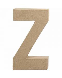 Bokstav, Z, H: 20,2 cm, B: 11,2 cm, tykkelse 2,5 cm, 1 stk.