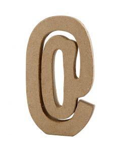 Tegn, @, H: 19,9 cm, B: 11,5 cm, tykkelse 2,6 cm, 1 stk.