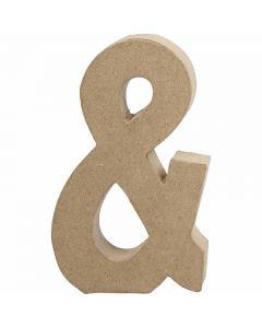 Tegn, &, H: 19,9 cm, B: 11,5 cm, tykkelse 2,5 cm, 1 stk.