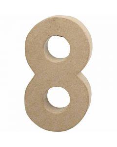 Tall, 8, H: 20,2 cm, B: 11 cm, tykkelse 2,5 cm, 1 stk.