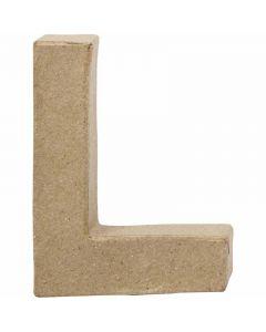 Bokstav, L, H: 10 cm, B: 7,5 cm, tykkelse 1,7 cm, 1 stk.