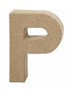 Bokstav, P, H: 10 cm, B: 7,7 cm, tykkelse 1,7 cm, 1 stk.