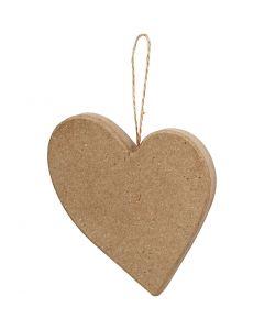 Skjevt hjerte, H: 10,5 cm, 1 stk.