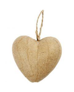 Hjerte, H: 6,5 cm, 9 stk./ 1 pk.