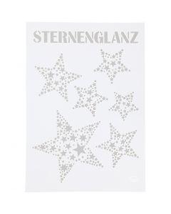 Stensil, stjerne, A4, 210x297 mm, 1 stk.