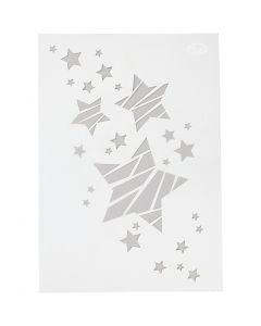 Stensil, stjerner, A4, 210x297 mm, 1 stk.