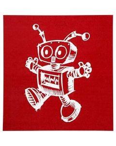 Screen stensil, robot, 20x22 cm, 1 ark