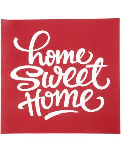 Screen stensil, home sweet home, 20x22 cm, 1 ark