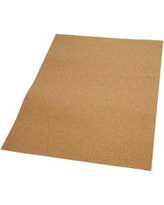 Korkplate, str. 35x45 cm, tykkelse 2 mm, 4 stk./ 1 pk.