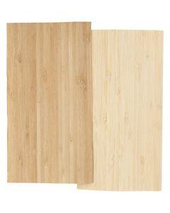 Bambusfinèr, 12x22 cm, tykkelse 0,75 mm, 2 ark/ 1 pk.