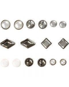Dekonitter, str. 8-18 mm, hvit, 16 stk./ 1 pk.