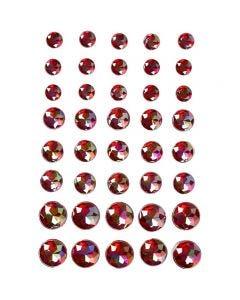 Rhinsten, str. 6+8+10 mm, rød, 40 stk./ 1 pk.