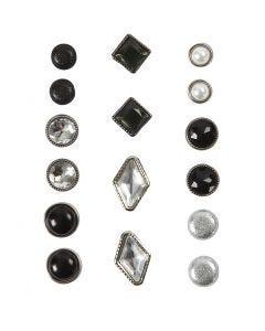 Dekonitter, str. 8-18 mm, svart, 16 stk./ 1 pk.
