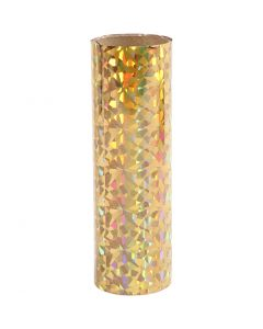 Dekorasjonsfolie, B: 15,5 cm, tykkelse 0,02 mm, gull, 50 cm/ 1 rl.