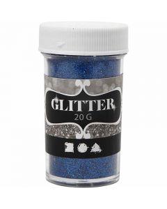 Glitter, H: 60 mm, dia. 35 mm, blå, 20 g/ 1 boks
