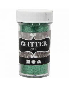 Glitter, H: 60 mm, dia. 35 mm, grønn, 20 g/ 1 boks