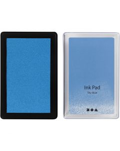 Stempelpute, H: 2 cm, str. 9x6 cm, himmelblå, 1 stk.