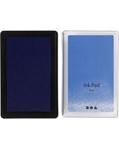 Stempelpute, H: 2 cm, str. 9x6 cm, blå, 1 stk.
